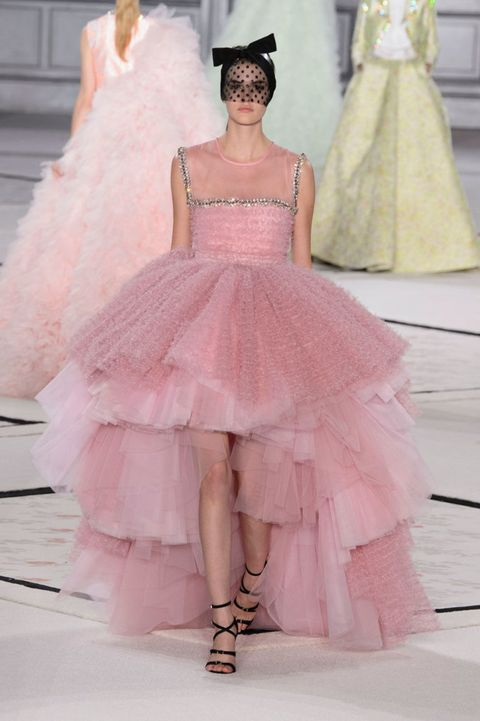 Clothing, Dress, Shoulder, Textile, Gown, Pink, Formal wear, Style, Fashion model, One-piece garment,