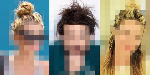 Hairstyle, Style, Colorfulness, Brown hair, Blond, Surfer hair, Hair coloring, Long hair, Symmetry, Peach,