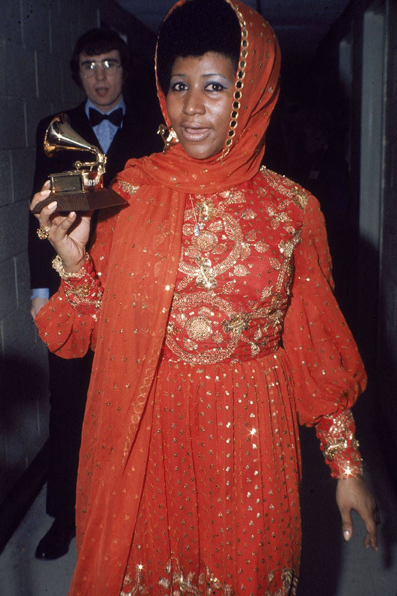 All hail the queen, who proves that the Grammys weren't always about exposing as much flesh as possible.