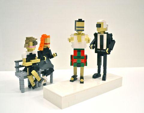 Toy, Lego, Fictional character, Building sets, Construction set toy, Machine, Action figure, Plastic, Figurine, Robot,