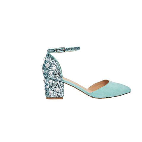 Teal, Aqua, Turquoise, Earrings, Bridal shoe, Sandal, Slingback,