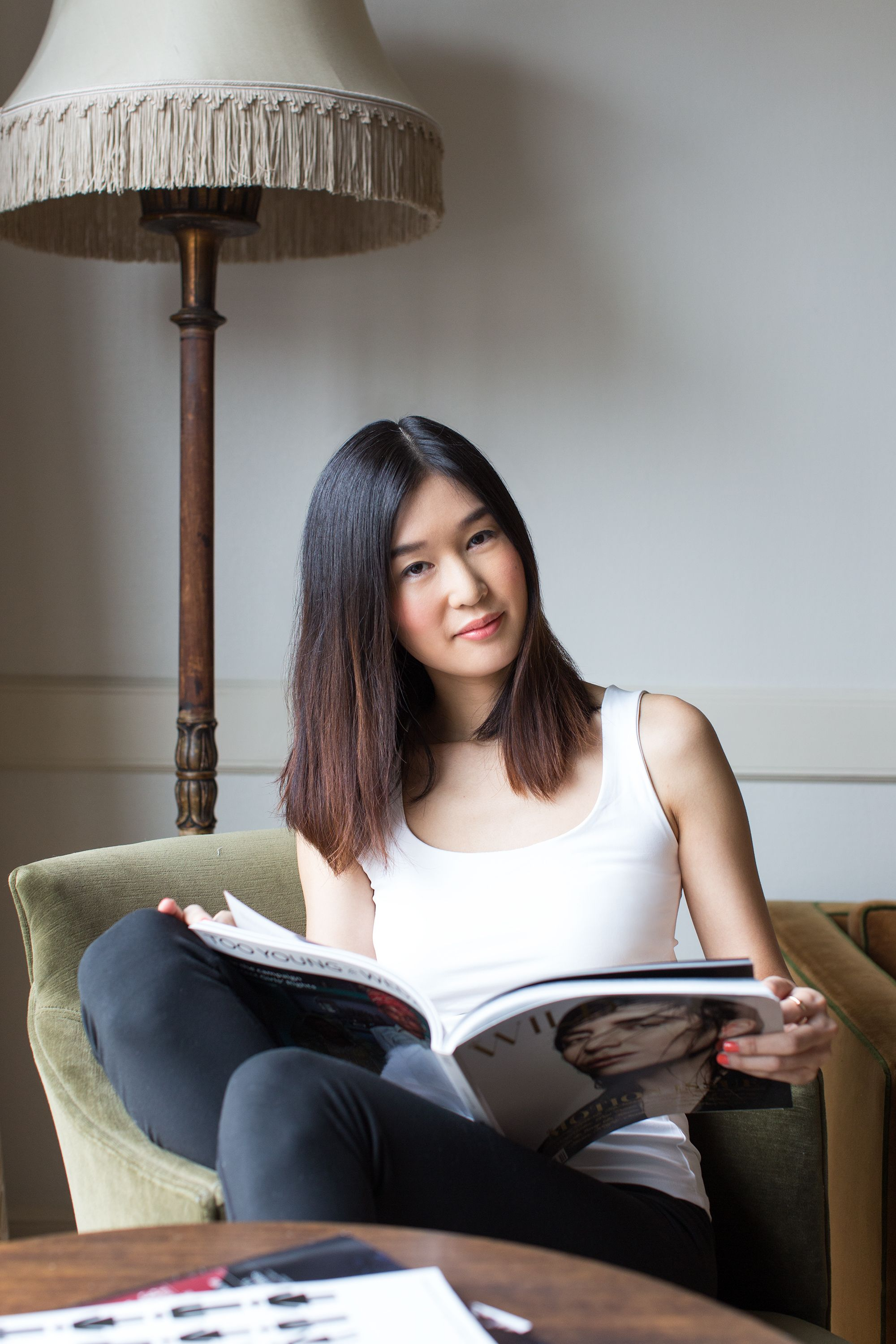 "Meet Charlotte Cho, co-founder of <a href=""http://sokoglam.com/"" target=""_blank"">SokoGlam</a>, a U.S.-based Korean beauty destination site. Months ago, she experimented with a deep red hair color, and now that the vibrant hue is almost completely grown out, she's ready to revitalize her statement-making mane with <a href=""http://bit.ly/1CoP5zP"" target=""_blank"">VS Salonist™ 5/45² Medium Intense Red</a>."
