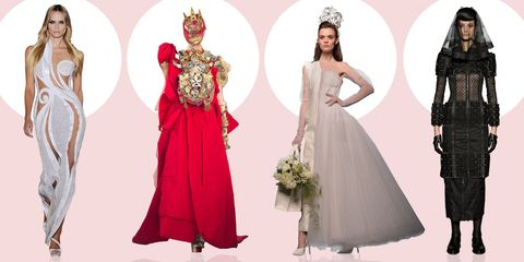 Sleeve, Shoulder, Dress, Textile, Red, Standing, Formal wear, Pink, Style, Gown,