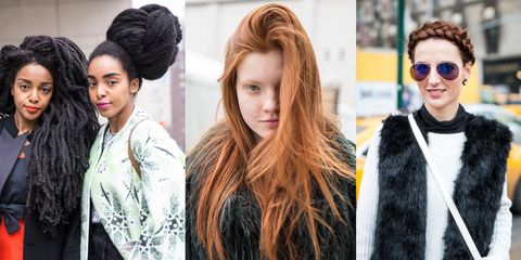 Hairstyle, Textile, Style, Sunglasses, Street fashion, Fashion, Beauty, Hair coloring, Fur, Long hair,