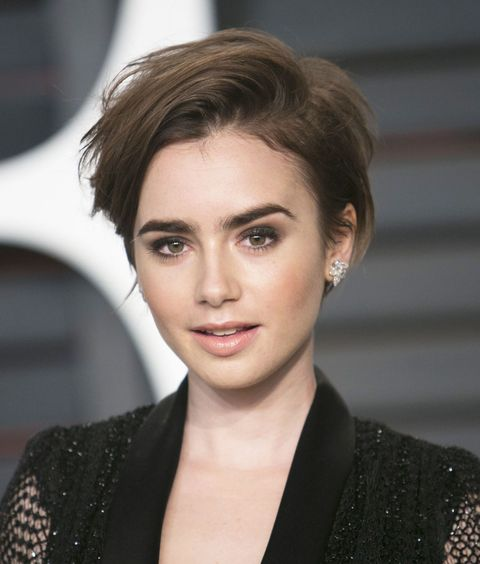 Behold Lily Collins 3 Step Action Plan For Getting The Coolest Cut