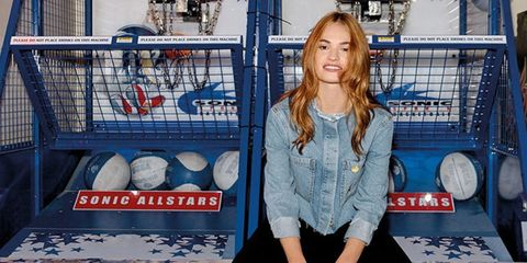 Lily James Gives Us 3 Real-Girl Denim Lessons