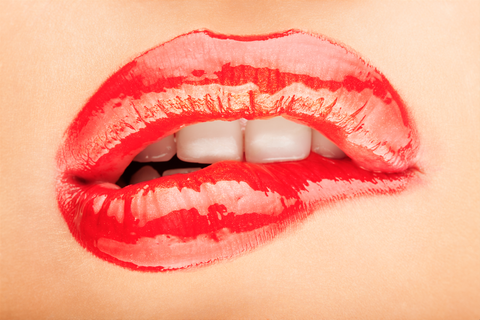 Lip, Mouth, Tooth, Red, Jaw, Organ, Carmine, Lipstick, Close-up, Coquelicot,