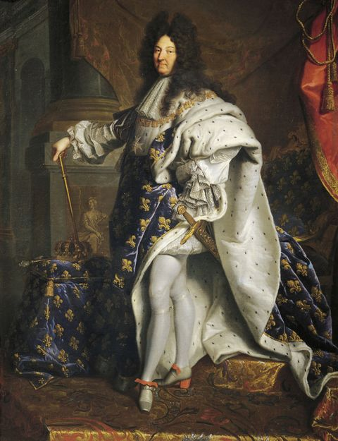 UNSPECIFIED - DECEMBER 16: Portrait of Louis XIV of France, known as Louis the Great or the Sun King (1638-1715), 1701, King of France, painting by Hyacinthe Rigaud (1659-1743), oil on canvas, 277x194 cm. Florence, Galleria Degli Uffizi (Uffizi Gallery) (Photo by DeAgostini/Getty Images)