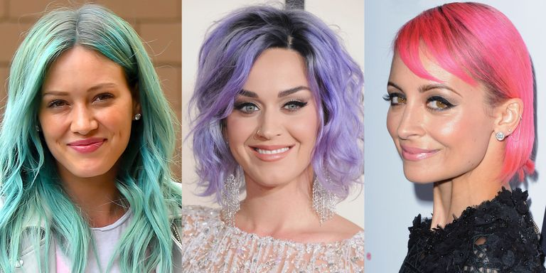 Pink And Purple Hair Styles: Purple & Pink Hair Color Trends On Celebrities In 2015