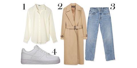 Product, Blue, Collar, Sleeve, Denim, Textile, White, Pattern, Dress shirt, Style,