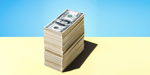 Money, Currency, Cash, Dollar, Banknote, Rectangle, Money handling, Paper, Paper product, Still life photography,