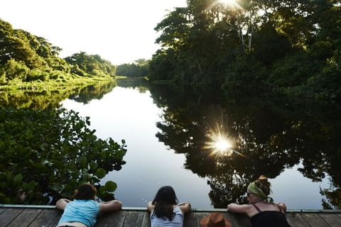 Arm, Human body, Natural landscape, Leisure, Waterway, Summer, Sunlight, Reflection, Channel, Bank,