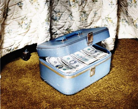 Baggage, Trunk, Suitcase, Shadow,