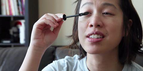 Lip, Cheek, Finger, Skin, Hairstyle, Chin, Forehead, Eyelash, Eyebrow, Shelf,