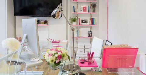 Room, Interior design, Pink, Furniture, Shelving, Home, Shelf, Interior design, House, Peach,