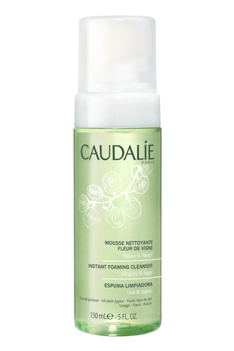 "Ultra clean skin is the goal here, so cleanse <em>again</em> with a gentle foam to remove any dirt and imperfections.  <em>Caudalie Instant Foaming Cleanser, $28; <a target=""_blank"" href=""http://us.caudalie.com/shop-products/category/cleansers-toners-3/instant-foaming-cleanser.html"">caudalie.com</a></em>"