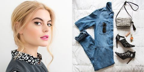 Lip, Product, Collar, Textile, Eyelash, Style, Fashion, Street fashion, Eye liner, Denim,