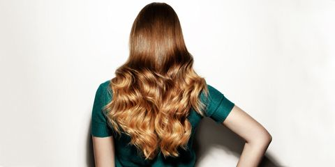 Hairstyle, Shoulder, Joint, Elbow, Style, Teal, Back, Turquoise, Long hair, Neck,