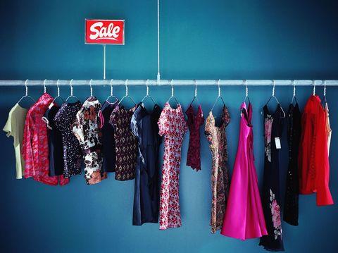 Blue, Textile, Red, Magenta, Pink, Clothes hanger, Purple, Electric blue, Fashion, Carmine,