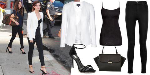 Footwear, Coat, Outerwear, Hat, Style, Street fashion, Fashion, Black, High heels, Sun hat,