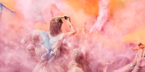 Orange, Pink, Art, Peach, Painting, Paint, Smoke, Illustration, Cg artwork, Art paint,