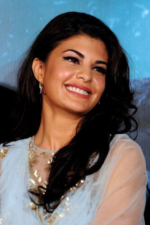 Indian Bollywood actress Jacqueline Fernandez looks on during a promotional event for the forthcoming Hindi film Kick, produced and directed by Sajid Nadiadwala, in Mumbai on late June 15, 2014. AFP PHOTO/ STR        (Photo credit should read STRDEL/AFP/Getty Images)