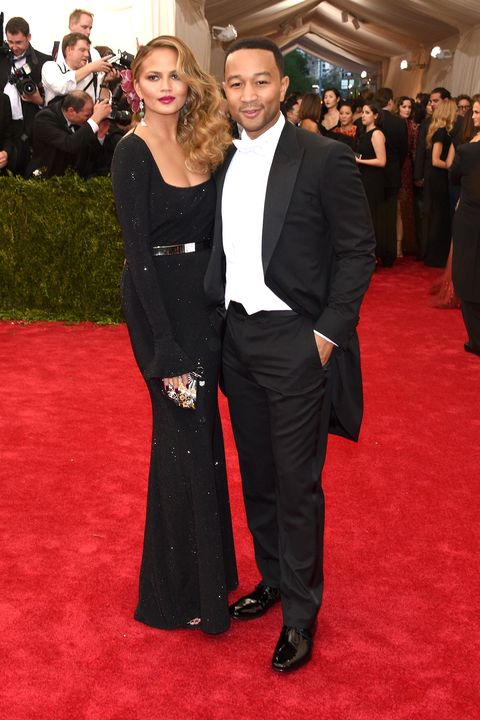 """NEW YORK, NY - MAY 04:  Chrissy Teigen (L) John Legend attend the """"China: Through The Looking Glass"""" Costume Institute Benefit Gala at the Metropolitan Museum of Art on May 4, 2015 in New York City.  (Photo by Larry Busacca/Getty Images)"""