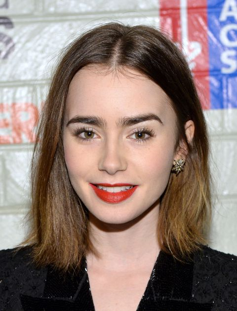 CULVER CITY, CA - JANUARY 28:  Actress Lily Collins attends Hollywood Stands Up To Cancer Event with contributors American Cancer Society and Bristol Myers Squibb hosted by Jim Toth and Reese Witherspoon and the Entertainment Industry Foundation on Tuesday, January 28, 2014 in Culver City, California.  (Photo by Michael Buckner/Getty Images for Entertainment Industry Foundation)