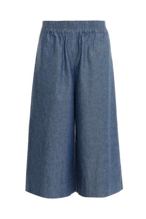 """Now's your chance to see what all the hype's about. Make this your 9-to-5 summer staple.  <em>MIH chambray culottes, $295; <a href=""""http://www.matchesfashion.com/us/products/MiH-Jeans-Chambray-culottes-1000449"""" target=""""_blank"""">matchesfashion.com</a></em>"""
