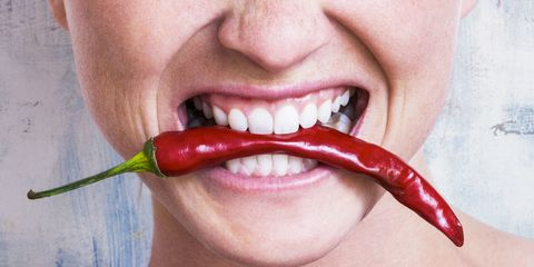 Lip, Skin, Chin, Ingredient, Tooth, Jaw, Bell peppers and chili peppers, Bird's eye chili, Organ, Produce,