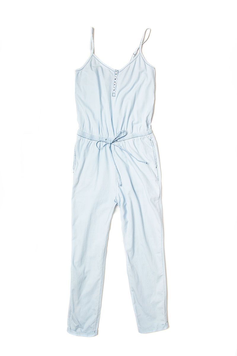 """Make the most of the jumpsuit moment with this casual-chic chambray treatment.  <em>Old Navy cami jumpsuit, $39; <a href=""""http://oldnavy.gap.com/browse/product.do?vid=2&pid=478597002"""" target=""""_blank"""">oldnavy.com</a></em>"""