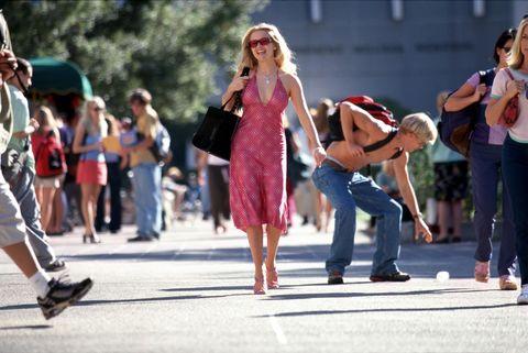Clothing, Hair, Footwear, Eyewear, Leg, Trousers, Jeans, Dress, Bag, Luggage and bags,