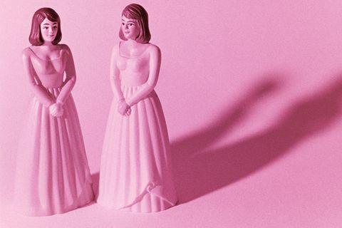 Dress, Magenta, Pink, One-piece garment, Purple, Peach, Day dress, Waist, Gown, Embellishment,