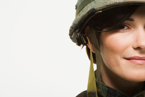 Headgear, Costume accessory, Soldier, Beret, Photography, Military person, Close-up, Camouflage, Portrait photography, Portrait,
