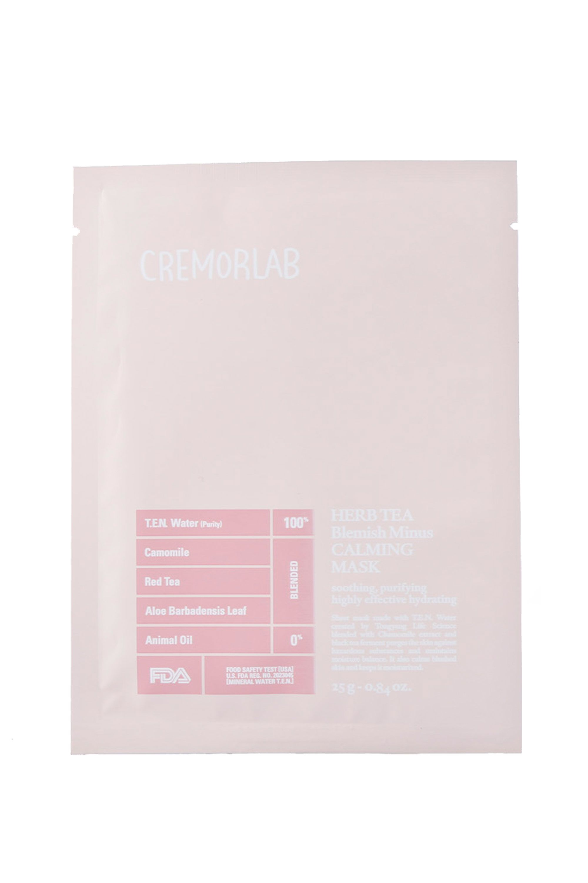CremorLab Herb Tea Blemish Minus Calming Mask CremorLab Herb Tea Blemish Minus Calming Mask, $5 SHOP IT Smooth your skin and clear up your complexion with this potent, yet gentle mix of thermal water, polyphenols, and tannins.