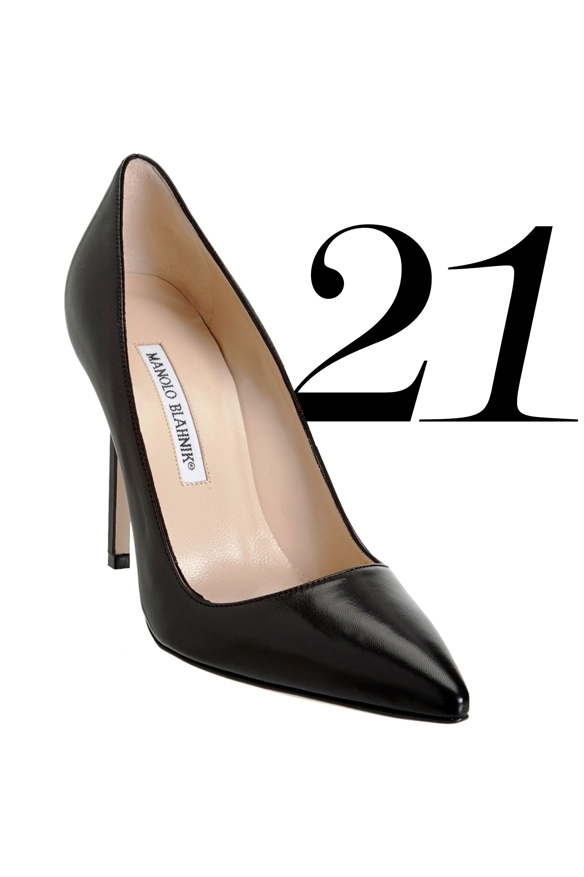 """With your college years firmly behind you, step into the working world in a chic pair of pointed toe pumps. Classic Manolos worn with a pencil skirt and silk blouse is a style trifecta that'll impress even the curmudgeon-iest of bosses.<strong>Splurge On:</strong> Manolo Blahnik BB Pointed Toe Pump, $595, <a target=""""_blank"""" href=""""http://www.bergdorfgoodman.com/Manolo-Blahnik-BB-Pointed-Toe-Pump-Black/prod78530002/p.prod """">bergdorfgoodman.com</a>"""