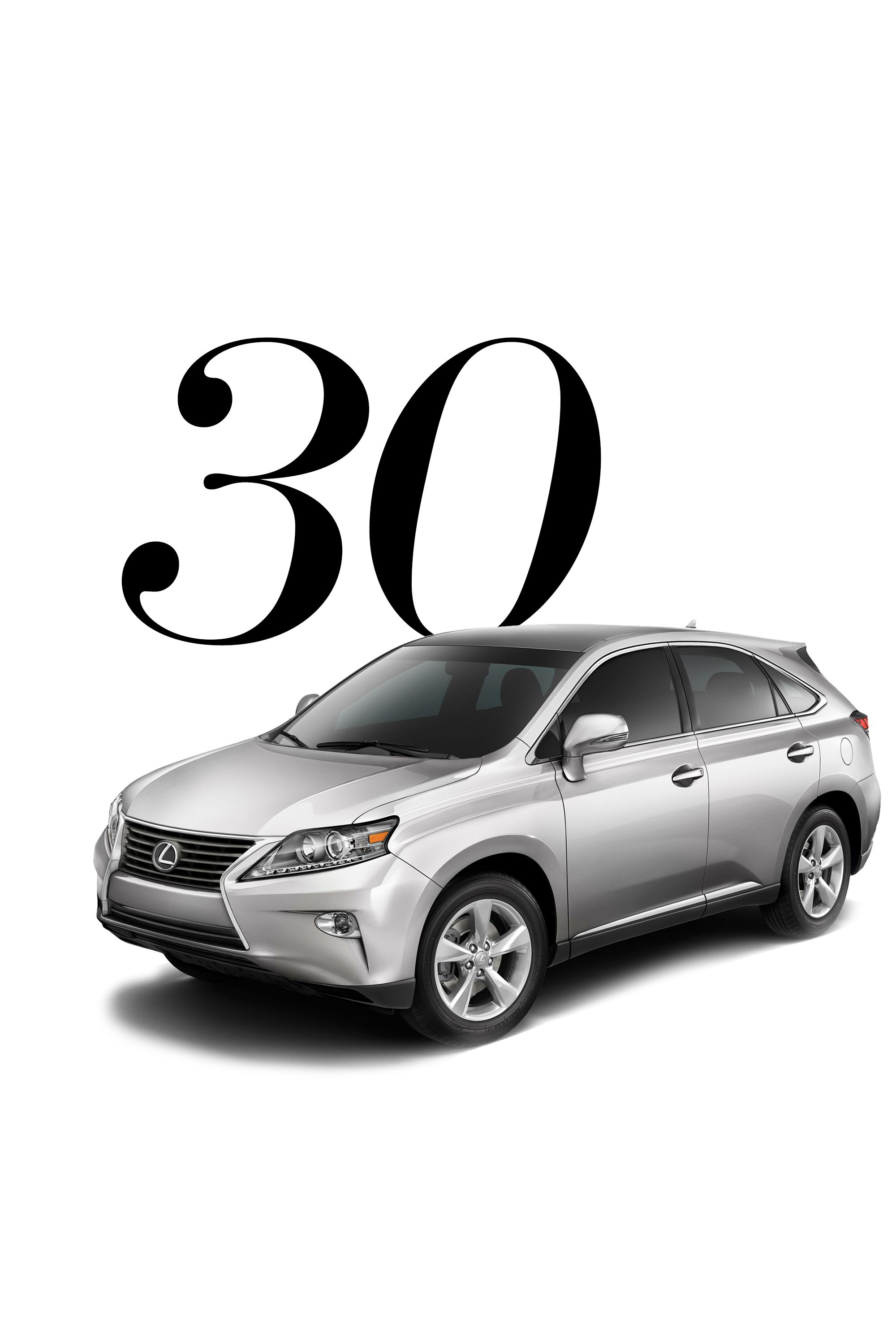 """You've learned how to dress in style, so isn't it time you arrive in style, too? Once you hit the big 3-0, you can consider a ride that's as statement making as you are—and will last. (Obviously.)<strong>Splurge On: </strong>2015 Lexus RX, <a target=""""_blank"""" href=""""http://www.lexus.com/lcertified/models/2015-Lexus-RX """">various locations</a>"""