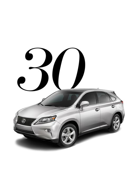 "You've learned how to dress in style, so isn't it time you arrive in style, too? Once you hit the big 3-0, you can consider a ride that's as statement making as you are—and will last. (Obviously.)  <strong>Splurge On: </strong>2015 Lexus RX, <a target=""_blank"" href=""http://www.lexus.com/lcertified/models/2015-Lexus-RX "">various locations</a>"