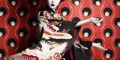 Pattern, Art, Costume, Eye liner, Tradition,