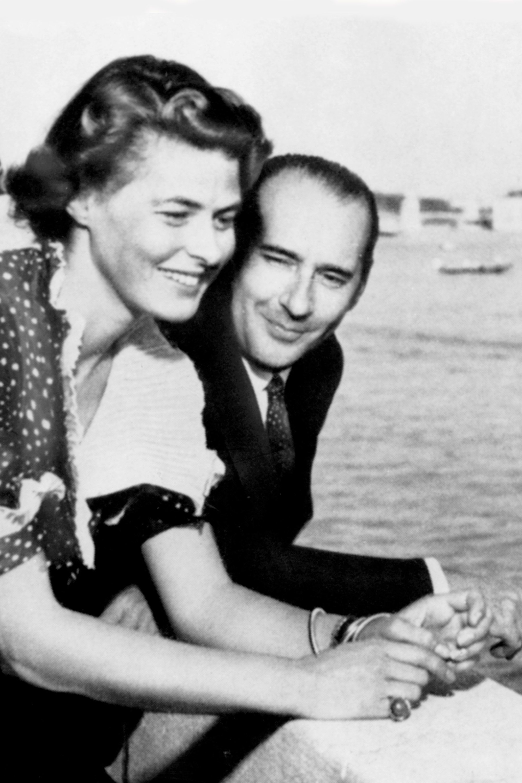 (GERMANY OUT) Ingrid Bergman mit ihrem Ehemann Roberto Rossellini. Undatiertes Foto. . (Photo by Bunk/ullstein bild via Getty Images)