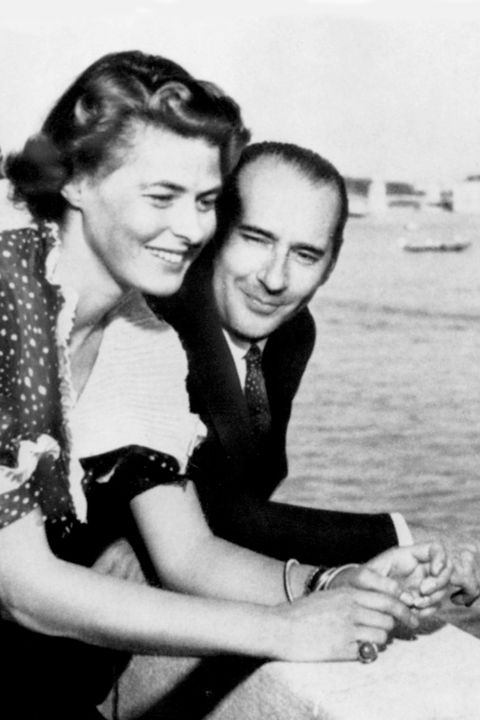 (GERMANY OUT) Ingrid Bergman mit ihrem Ehemann Roberto Rossellini. Undatiertes Foto. . (Photo by Bunk/ullstein bild via Getty Images)
