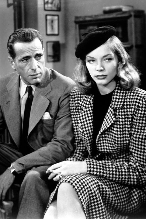 Humphrey Bogart (1889 - 1957) as Philip Marlowe and Lauren Bacall as Vivian Rutledge in 'The Big Sleep', 1946. (Photo by Silver Screen Collection/Getty Images)