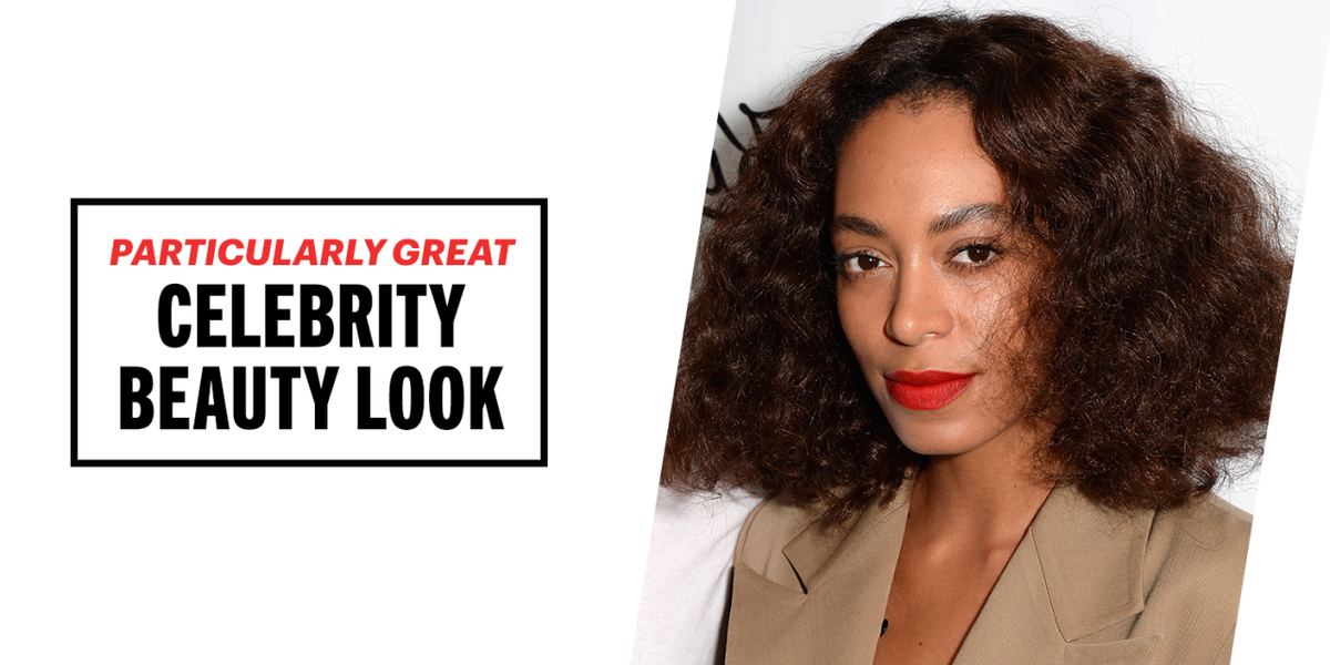 Solange Knowles Red Lipstick Look