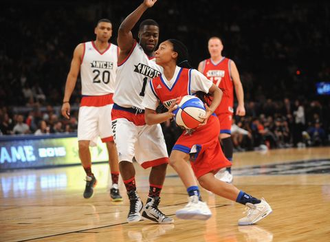 Ball, Basketball moves, Basketball, Sports uniform, Sports equipment, Basketball player, Sport venue, Jersey, Sportswear, Shoe,
