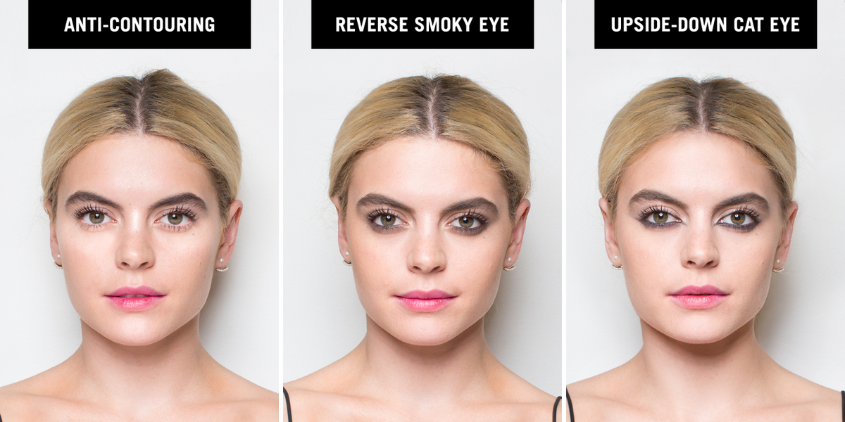 Reverse Makeup Trends - How to Do a Reverse Smoky Eye and Upside ...