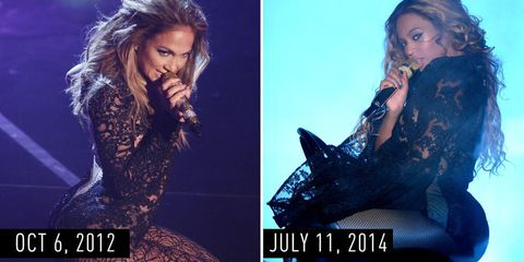 Definitive Proof That Beyoncé Is Obsessed with J.Lo's Style