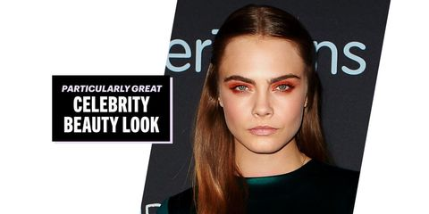 Cara Delevingne Took a Seriously Risky Eyeshadow Shade and Worked the Hell Out of It