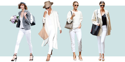 How to Style White Jeans, as Demonstrated by Celebrities