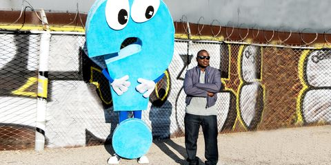 Blue, Wire fencing, Mesh, Graffiti, Mural, Chain-link fencing, Paint, Street art, Animation, Net,