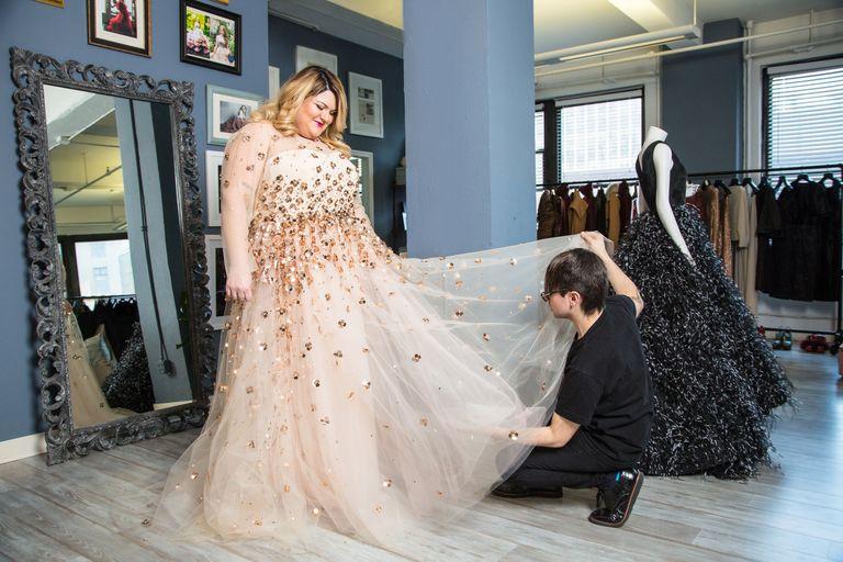 2019 year for lady- Mason nicolette christian siriano wedding dress